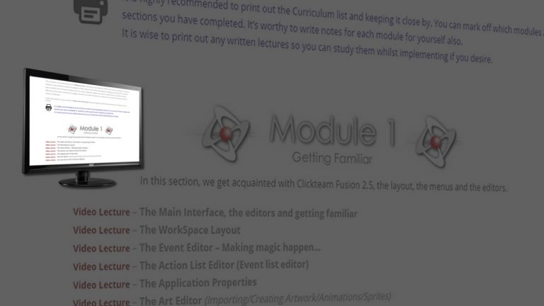 Clickteam Fusion Curriculum