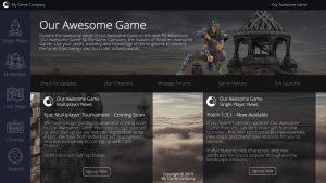 Game Launcher Creator Design